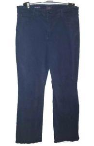 NYDJ Barbara Bootcut Blue Colored Jeans Size 14w